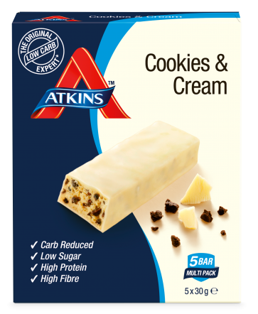 Atkins Cookies en Cream proteine repen