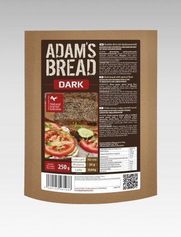 Adam's Brot Koolhydraatarm Brood Dark