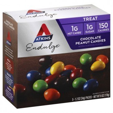 Atkins USA Chocolate Candies, Peanut