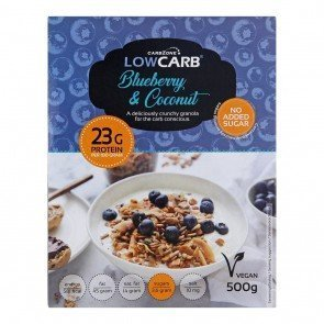 CarbZone Low Carb Granola Blueberry & Coconut