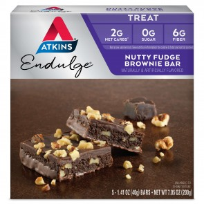 Atkins USA Endulge Nutty Fudge Brownie