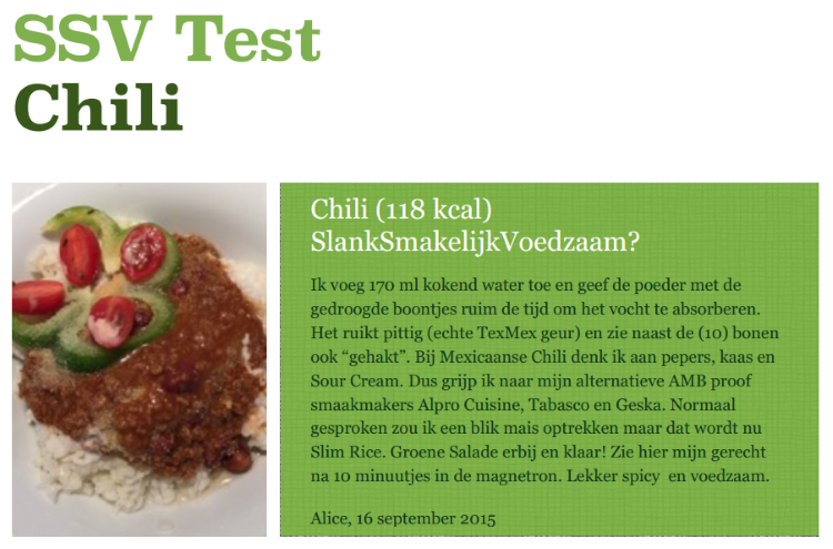 DietiMeal chili getest