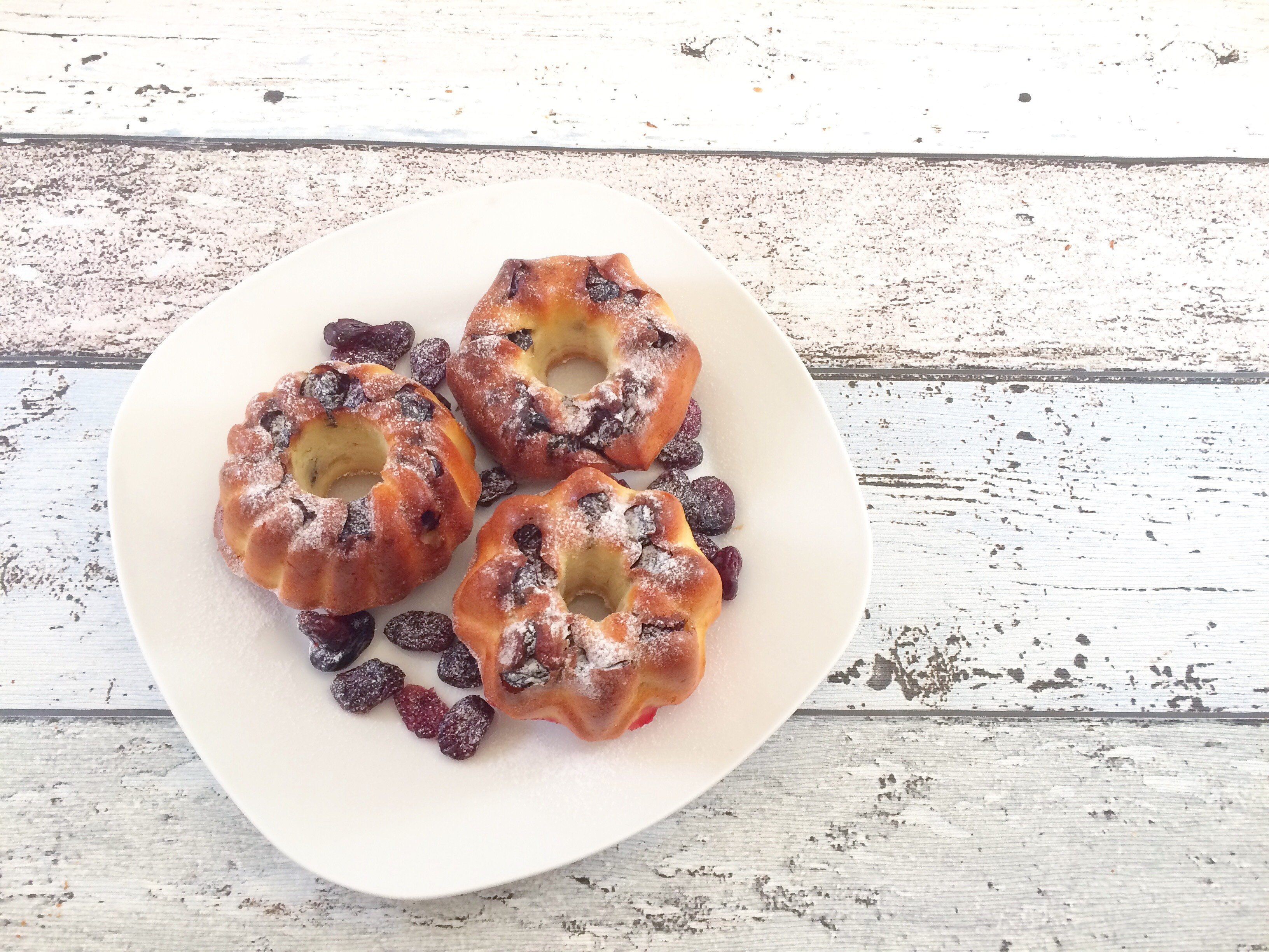 Lowcarb cranberry vanille muffins