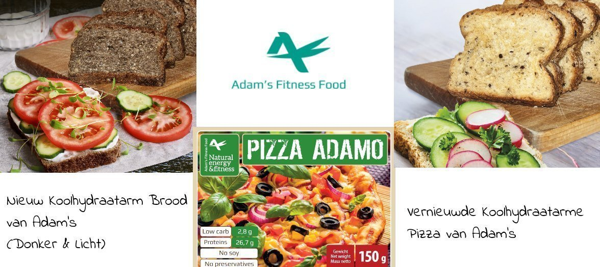 Koolhydraatarm Brood en Koolhydraatarme Pizza van Adam's Fitness Foods