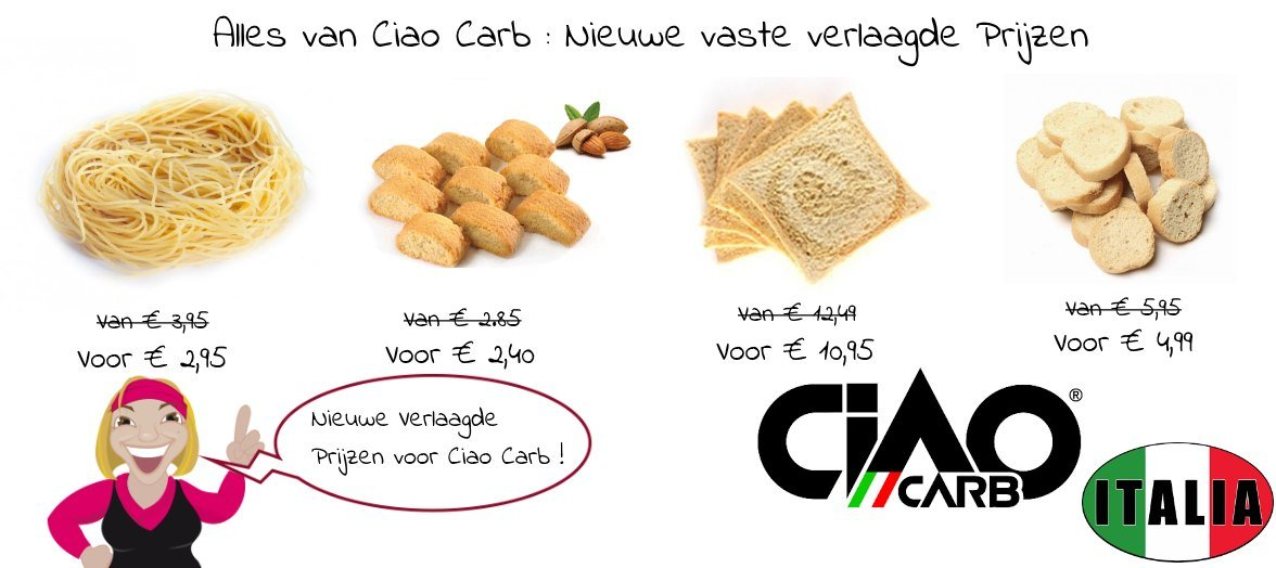 Goedkopere Ciao Carb producten