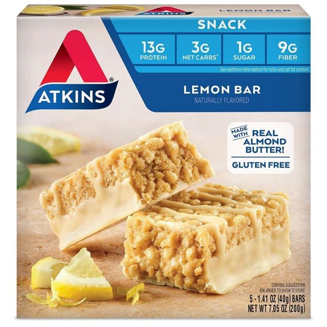 Atkins USA Lemon Bar