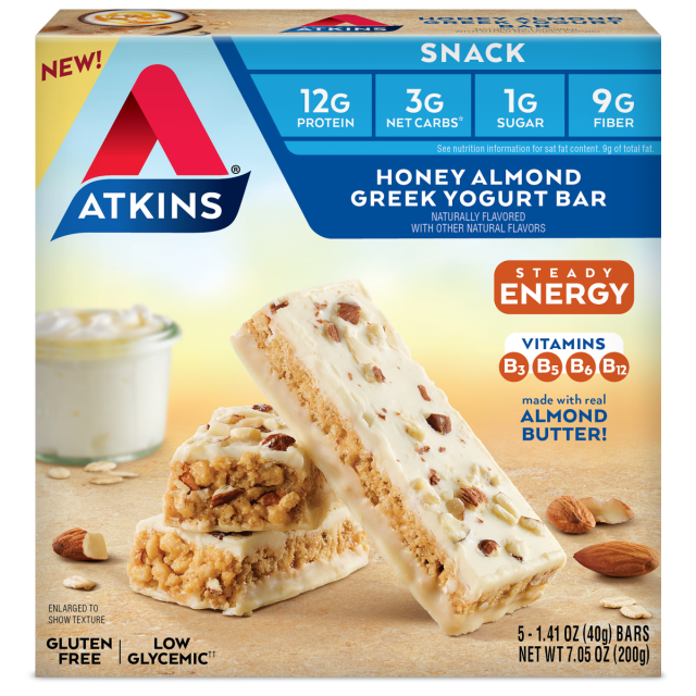 Atkins USA Snack Honey Almond Greek Yoghurt