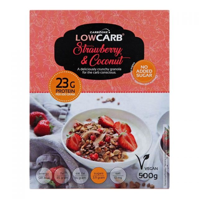 CarbZone Low Carb Granola Strawberry & Coconut
