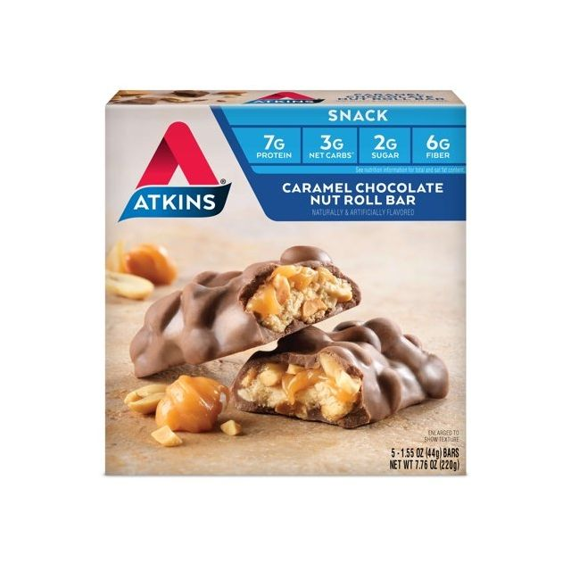 Atkins USA Snack Caramel Chocolate Nut Roll
