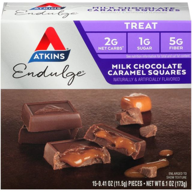 Atkins USA Milk Chocolate Caramel Squares