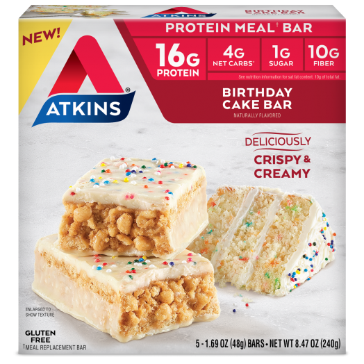 Atkins USA Meal Bars Birthday Cake