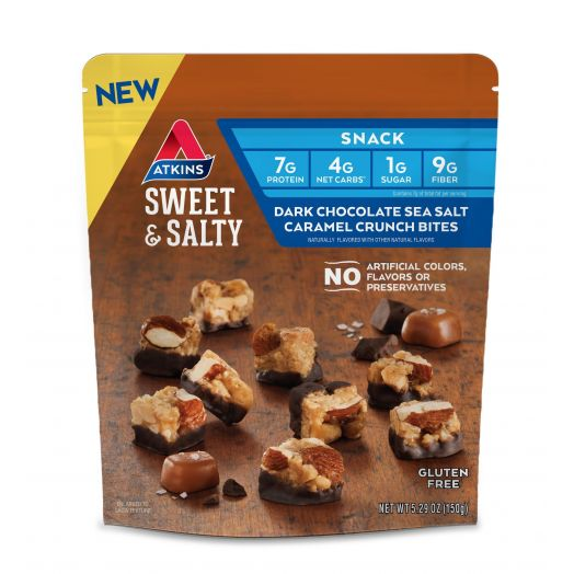 Atkins USA Sweet & Salty Dark Chocolate Sea Salt Caramel Crunch Bites