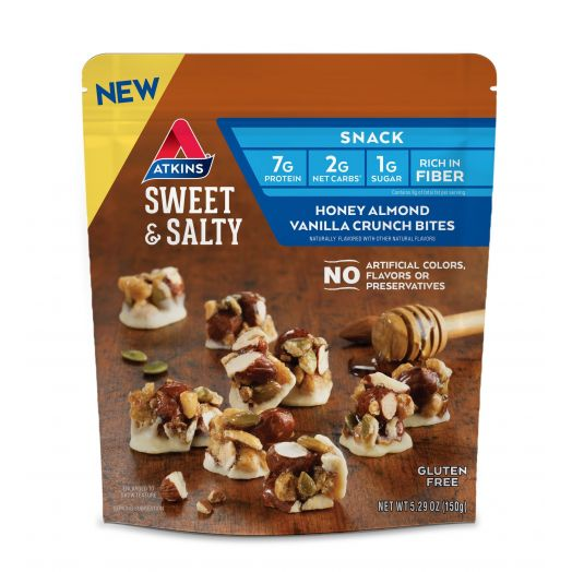 Atkins USA Sweet & Salty Honey Almond Vanilla Crunch Bites