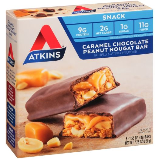 Atkins USA Snack Caramel Chocolate Peanut Nougat Bar