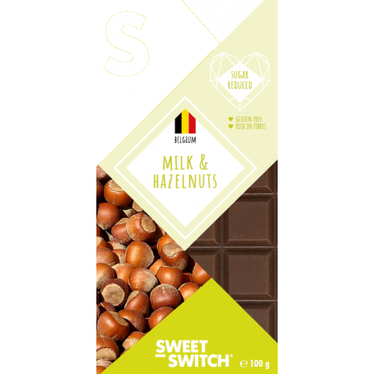 Sweet-Switch - Hazelnoot Melkchocolade Tablet